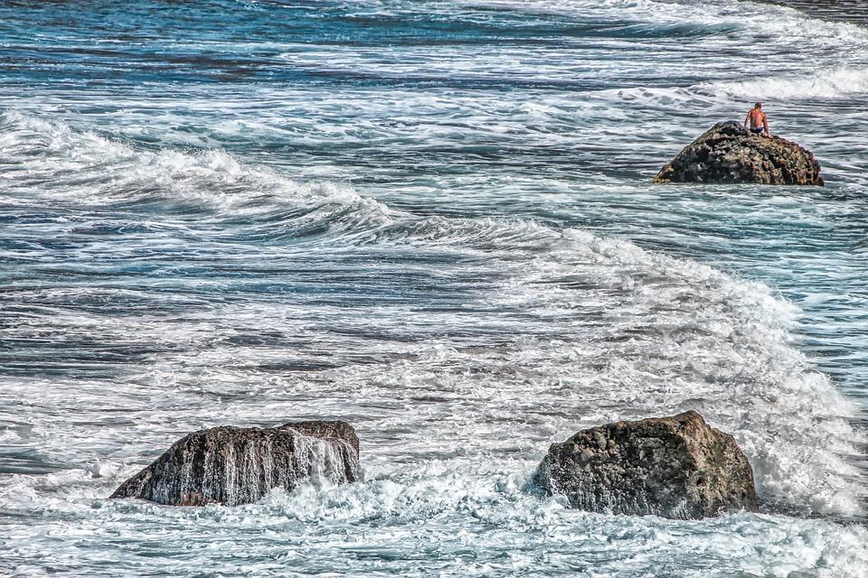 Free photo Atlantic Sea Landscape Wave Foam Nature Spray