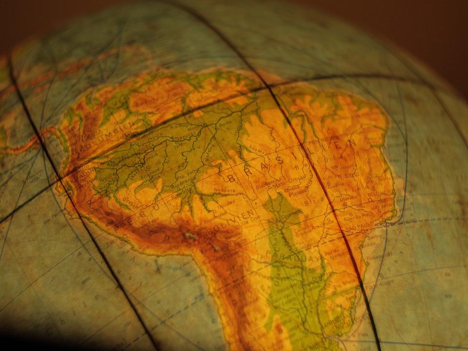 Brazil, South America, America, Globe, World, Atlas