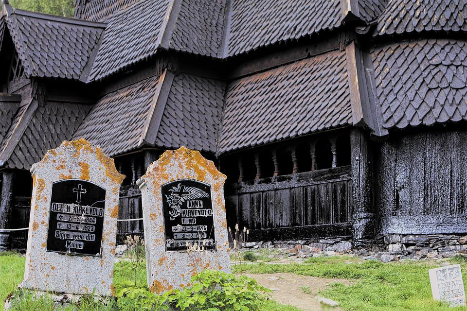 Church, Grave, Tombstone, Atmosphere, Stave Church