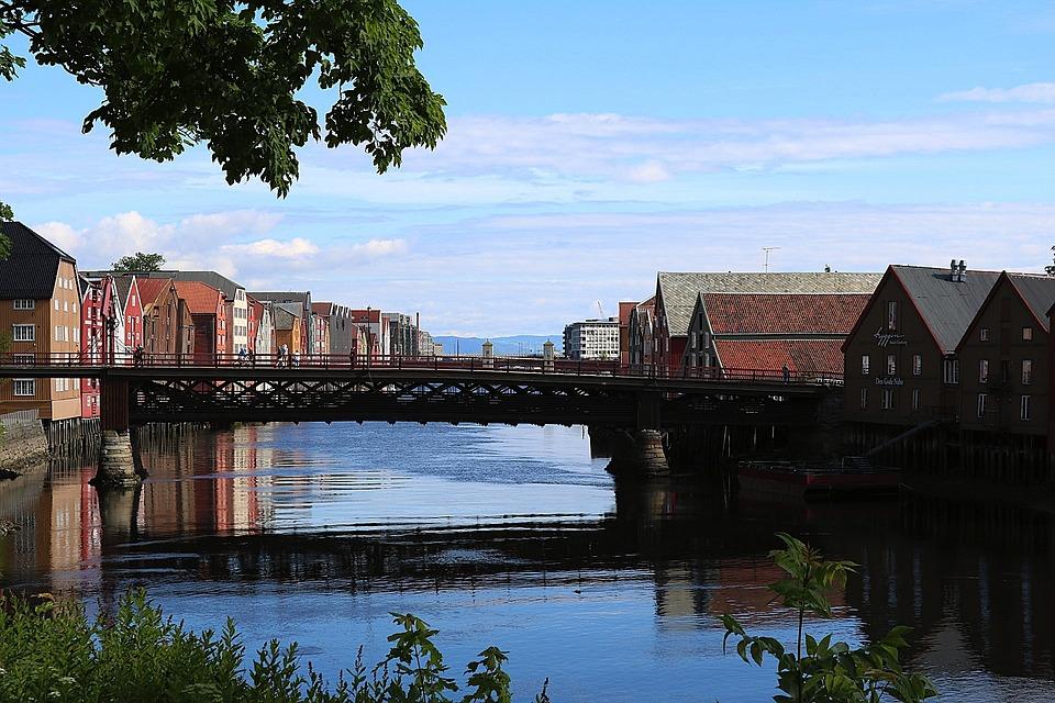 Trondheim, River, Bridge, Architecture, Atmospheric