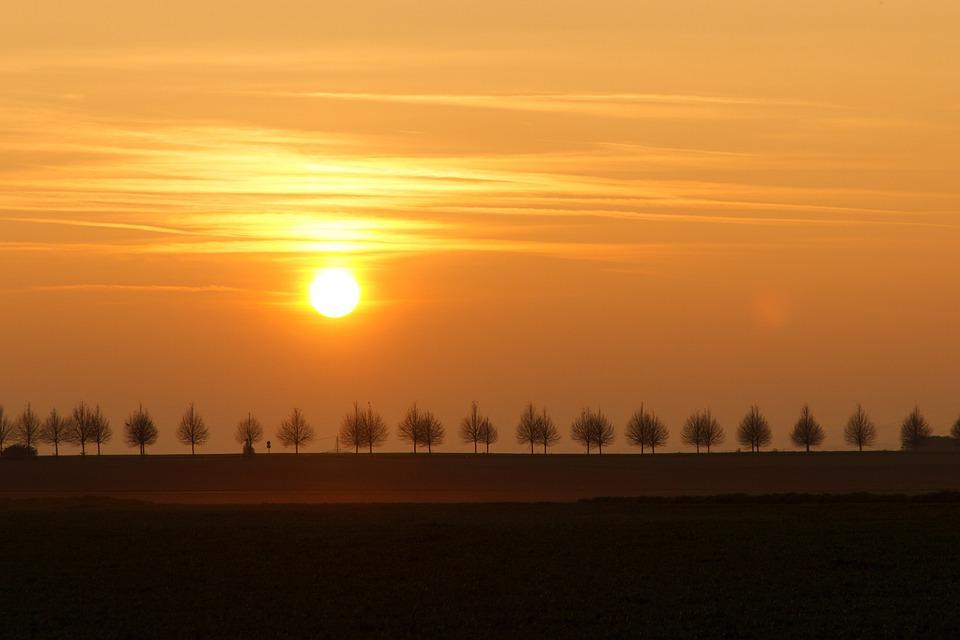 Autumn, Sunset, Atmospheric, Golden Autumn, Light, Sun
