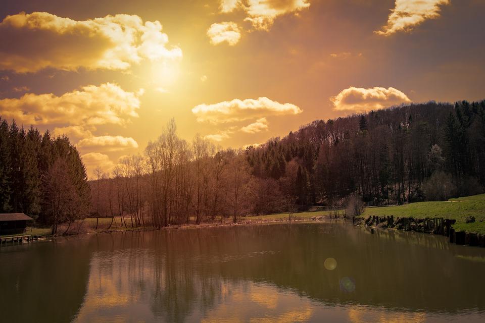 Evening, Sunset, Dusk, Sky, Water, Atmospheric