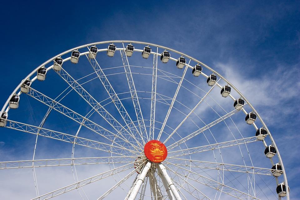 Ferris Wheel, Amusement Park, Attraction, Adventure