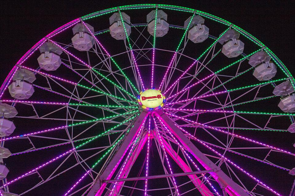July 4th, Carnival, Ferris Wheel, Ride, Attractions