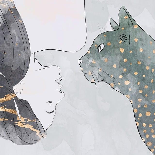 Woman, Cat, Pet, Girl, Animal, Attractive