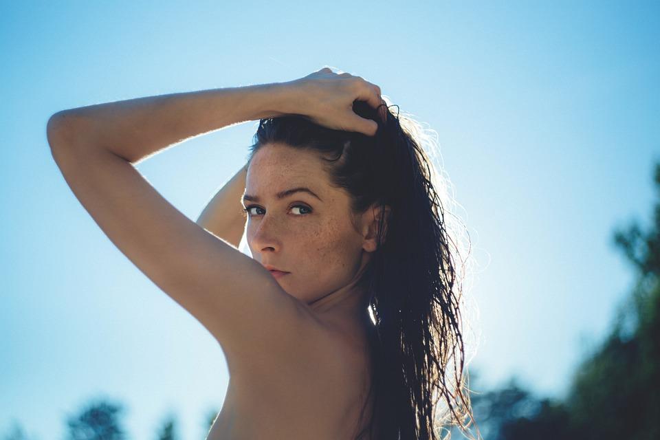 Attractive, Beautiful, Female, Girl, Model, Nude