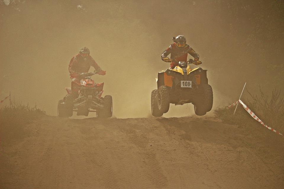 Enduro, Sand, Dust, Cross, Quad Race, Atv, Quad