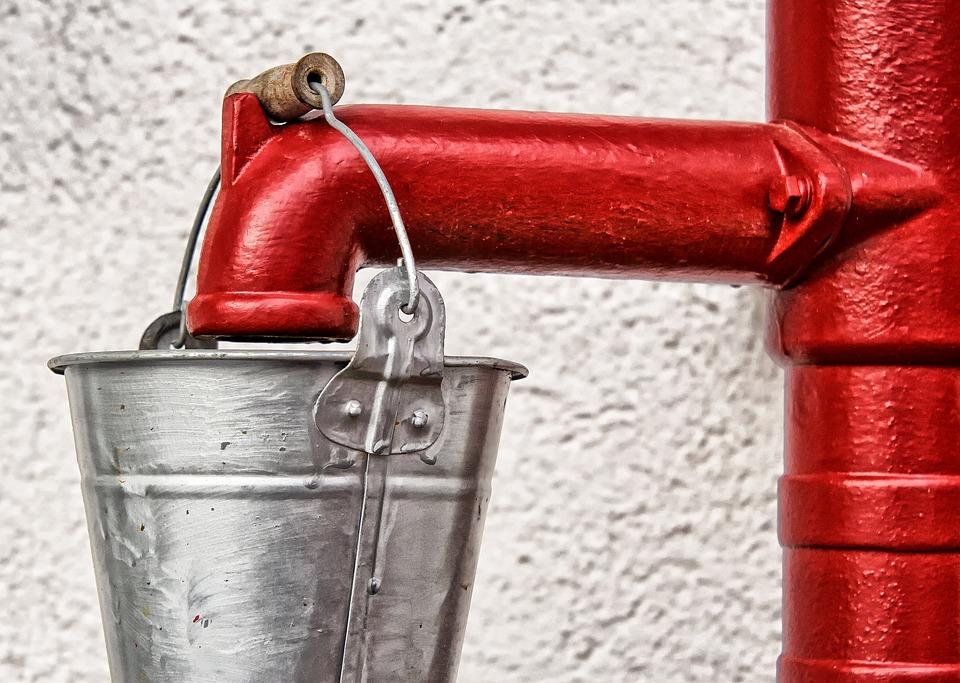 Pump, Water Pump, Hand Pump, Tube, Auburn, Old, Steel