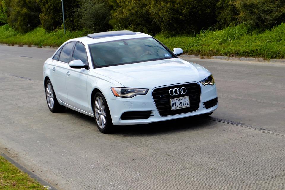 Audi, A6, Sedan, Four Door, Car, Asphalt, Hurry