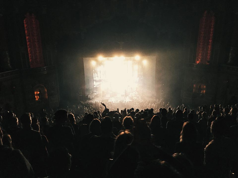 Audience, Backlit, Band, Battle, Concert, Crowd, Dark