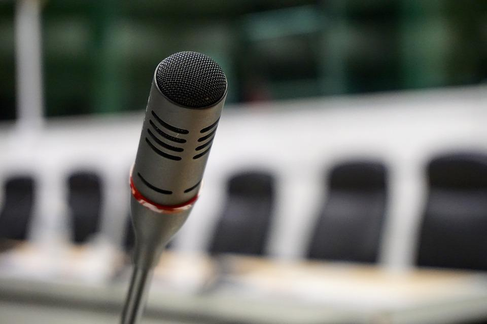 Microphone, Talk, Conference, Meeting, Audio