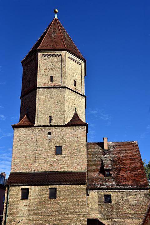 Augsburg, Jakobertor, Tower, City Wall, Historically