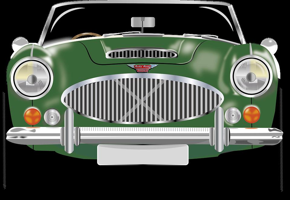 Car, Vehicle, Retro, Oldtimer, Austin Healey, Classic