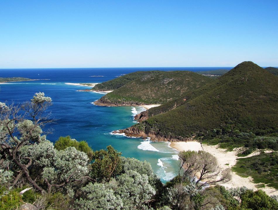 Australia, Beach, Nelson Bay, Ocean, Nature, Coast