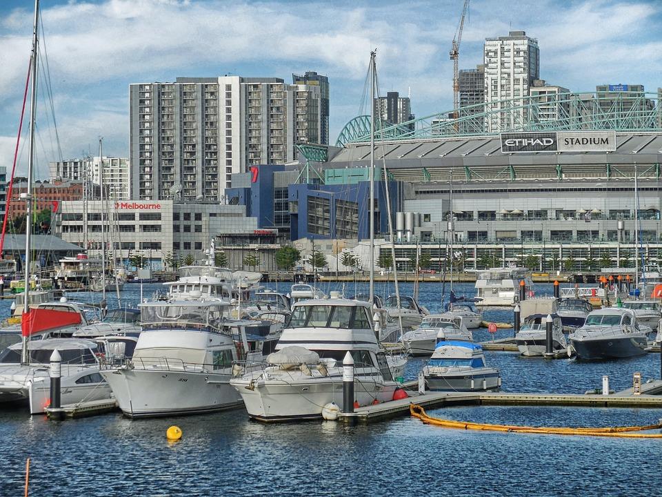 Melbourne, Australia, Bay, Harbor, Port, Water