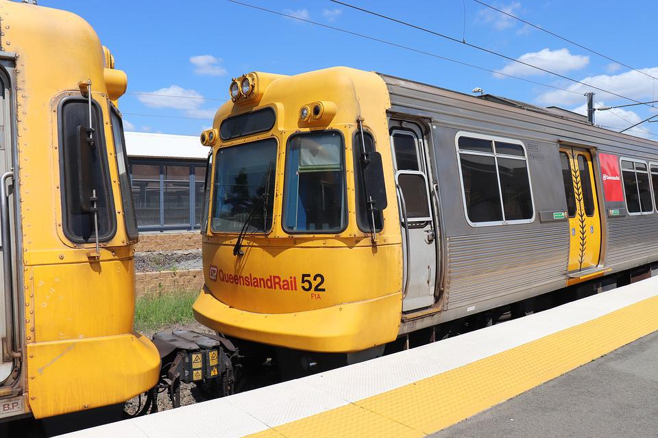 Train, Rail, Queensland Rail, Qr, Brisbane, Australia