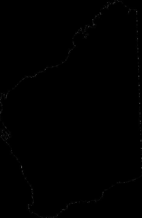 Western Australia, Map, Australia, State, Silhouette
