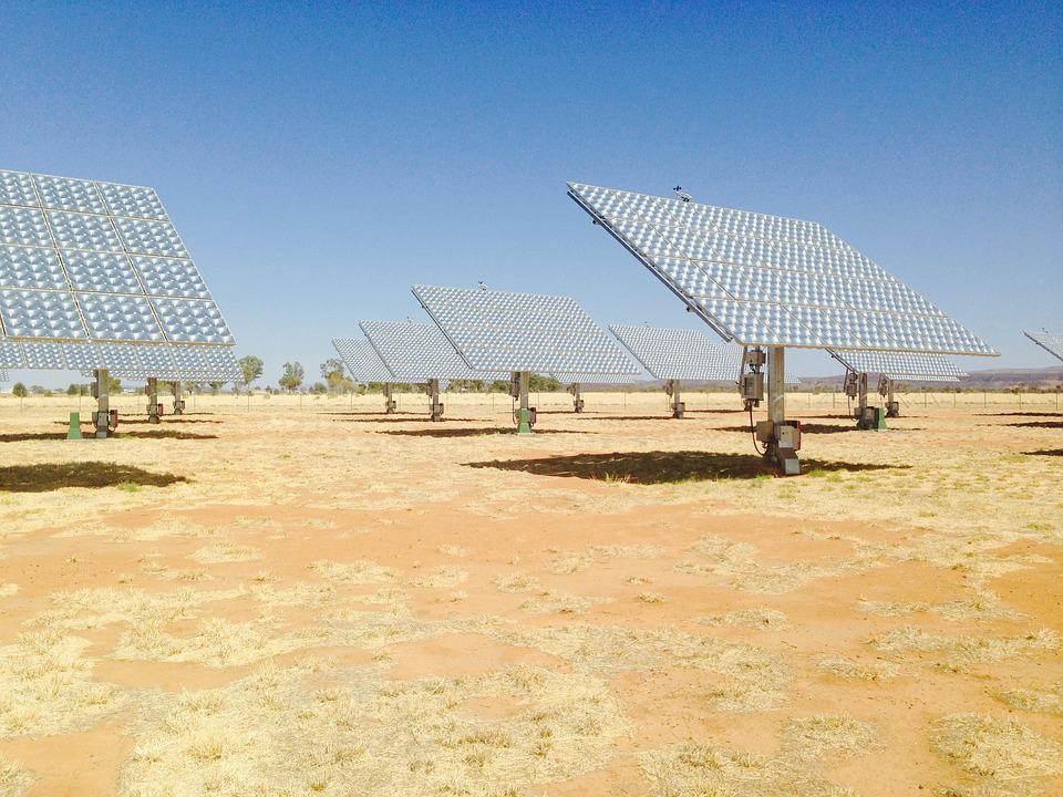 Solar, Solar Power, Australia, Desert, Pv