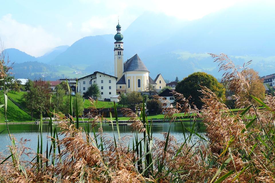 Reith, Albpachtal, Tyrol, Austria, Lake, Landscape