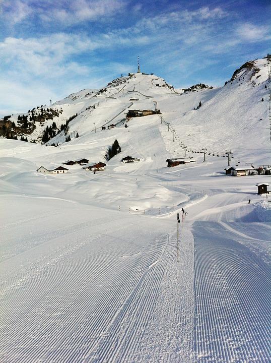Snow, Ski, Lane, Mountain, Alps, Kitzbuhel, Austria