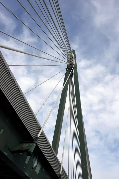 Bridge, Danube, Austria, Architecture, Heritage, Cables