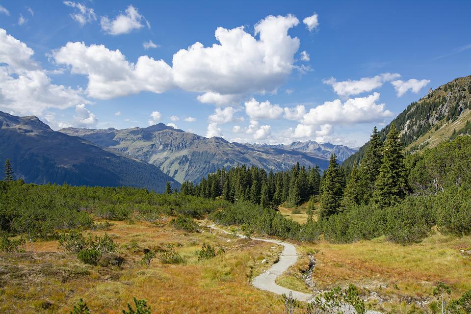 Partenen, Vorarlberg, Austria, Montafon, Autumn, Nature
