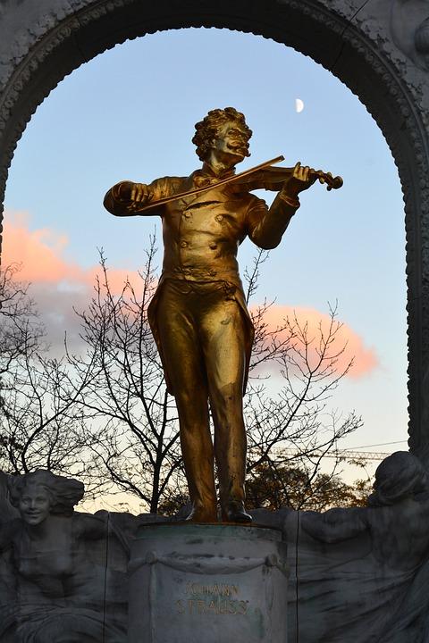 Statue, Strauss, Vienna, Composer, Austria