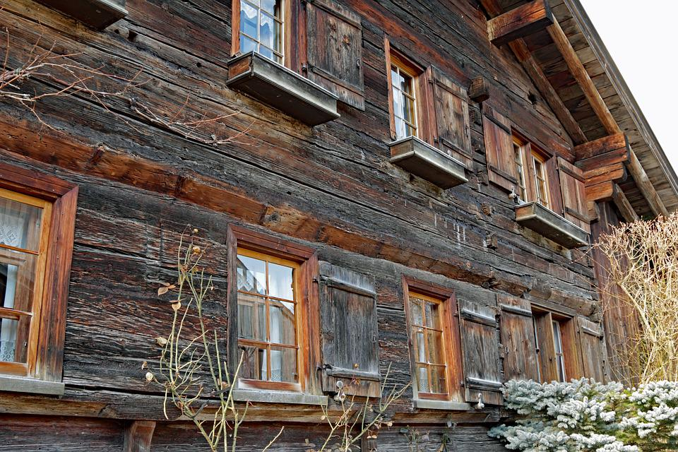 Farmhouse, Austria, Alpine, Window, Hauswand, Wood