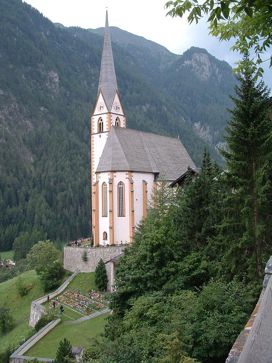 Austria, Church Landscape, Hills