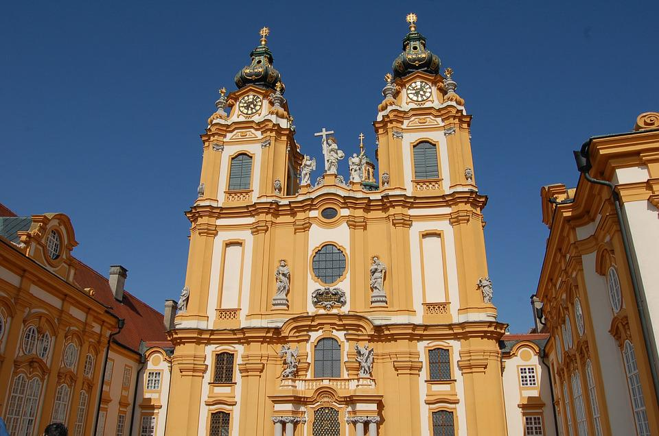 Austria, Melk, Abbey, Church, Architecture, Monument