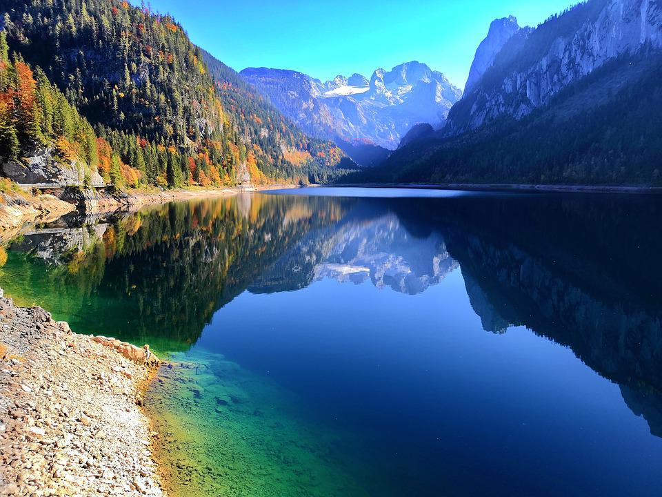 Austria, Dachstein, Mountains, Panorama, Glacier