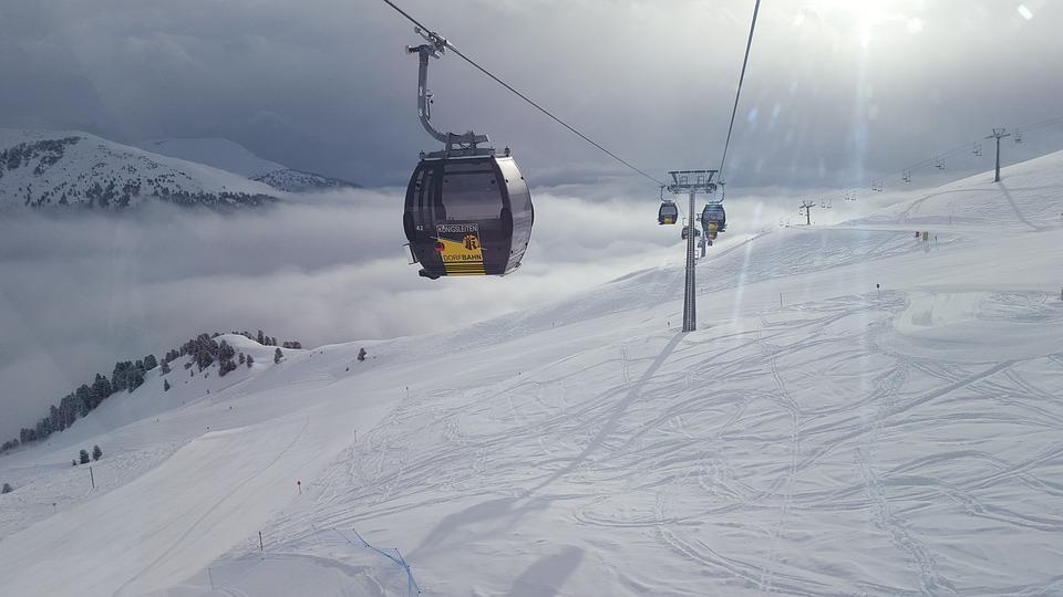 Mountains, Austria, The Ski Slope, Alps, Landscape
