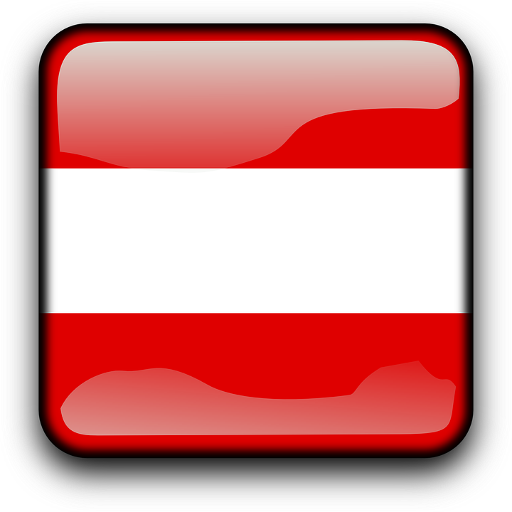 Austria, Flag, Country, Nationality, Square, Button