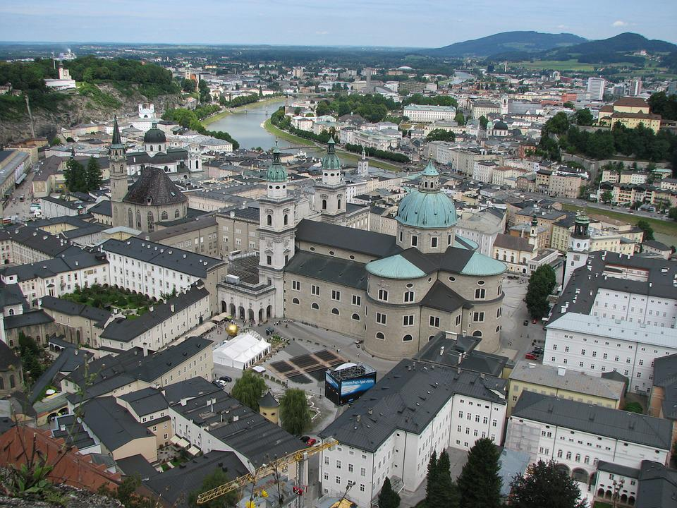 Salzburg, City, Austria, Old Town, Dom