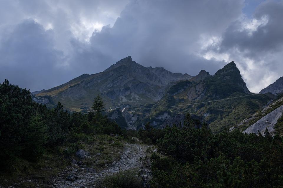 Mountains, Peak, Landscape, Muttekopf, Tyrol, Austria