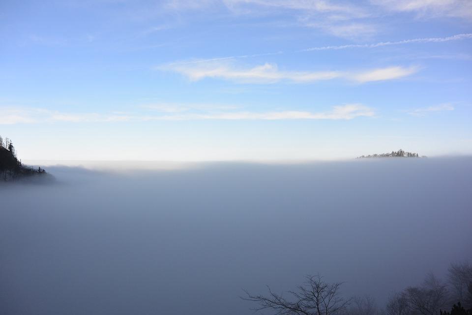 Unterberg, Salzburg, Austria, Fog, Transition, Alpine