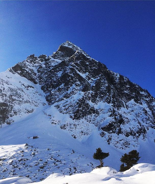 Mountain, Montafon, Silvretta, Austria, Winter