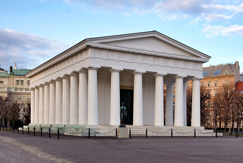 Vienna, Austria, Temple Of Theseus, Building, Columns