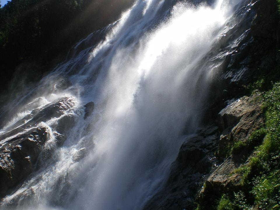 Waterfall, Nature, Austria, Roaring Waterfall