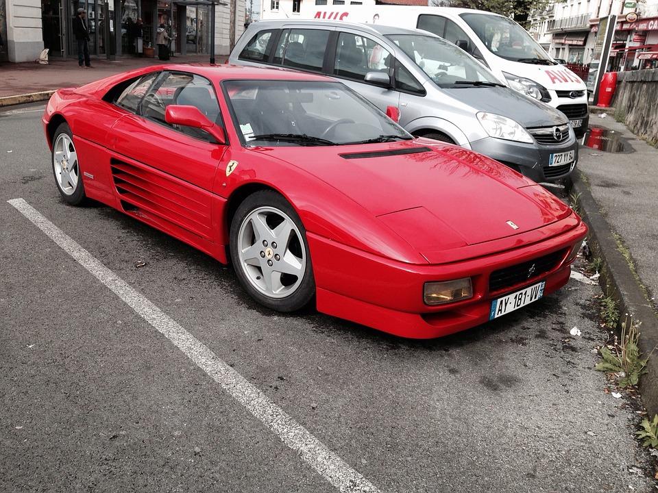 Ferrari Auto Dare Sports Car  Red Parking