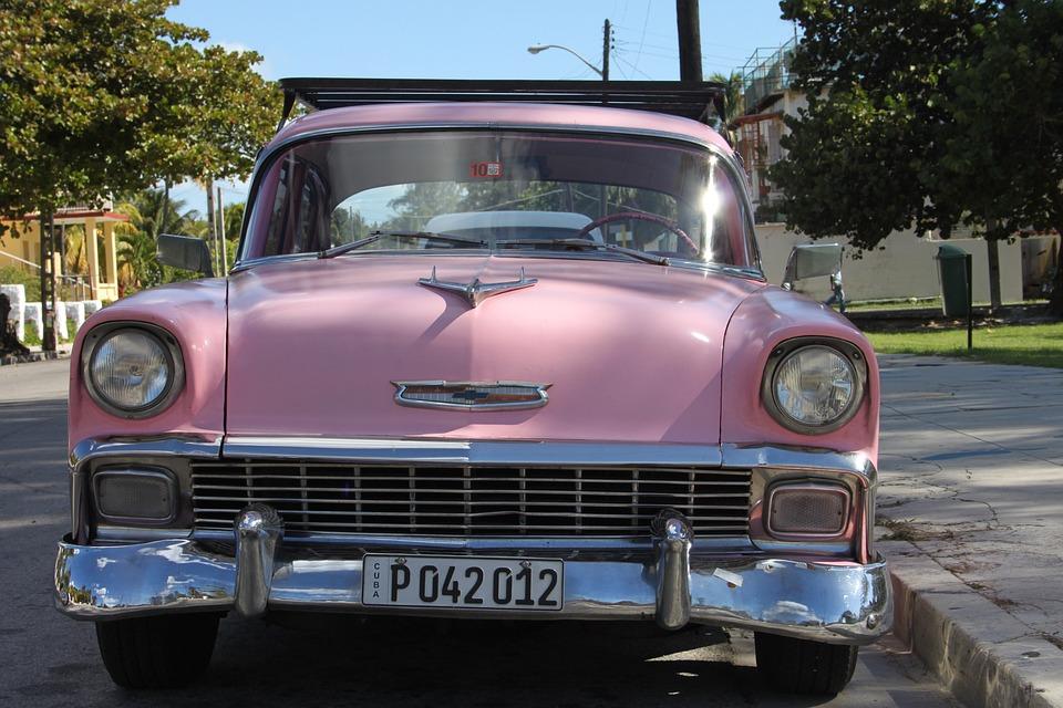 Auto, Oltimer, Cuba, Old, Crom, Automotive