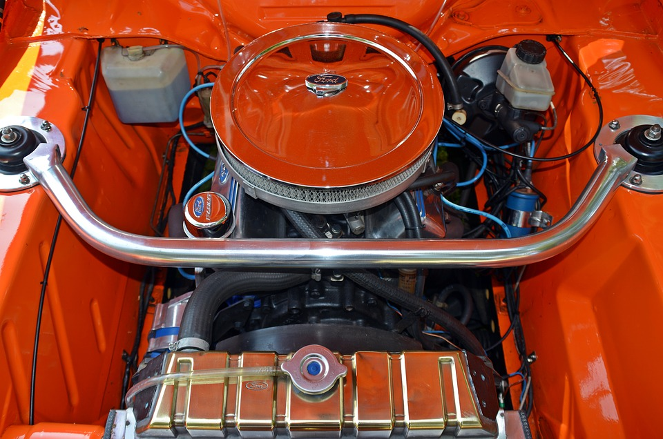 Oldtimer, Ford, Mustang, Motor, Auto, Old, Classic, Pkw