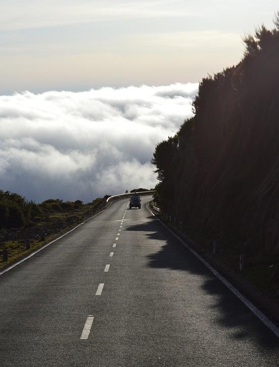 Road, Clouds, Auto, Freedom, Nature, Insek