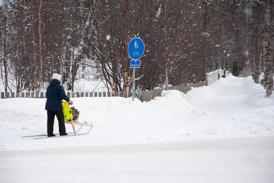 Snow, Winter, White, Cold, Auto, Road, Jokkmokk, Sweden