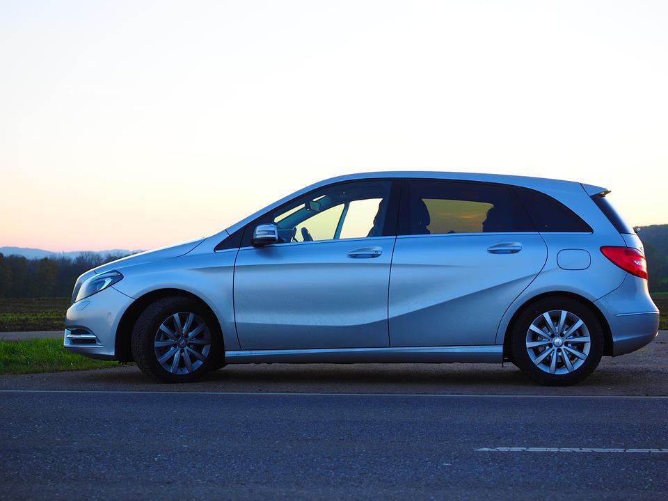 Auto, Mercedes, B-class, Silver, Mercedes Benz