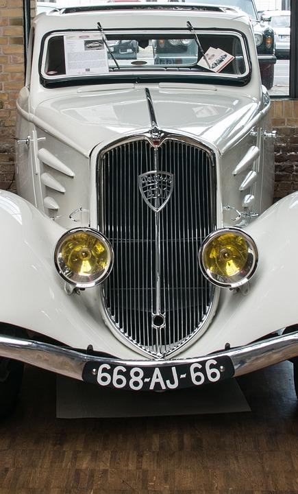 Peugeot, Auto, Chrome, Spotlight, Nostalgia, Oldtimer