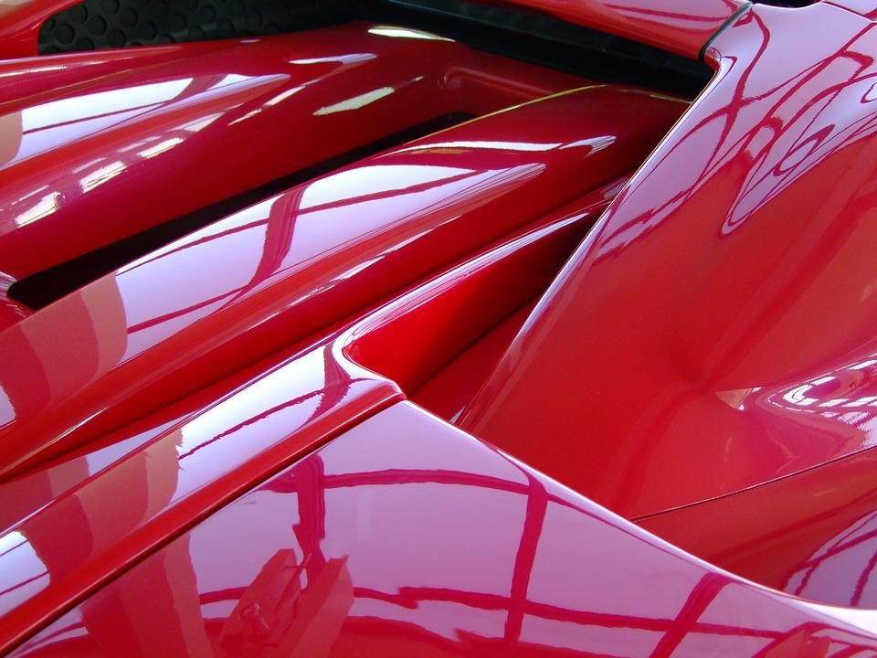 Ferrari, Auto, Detail, Sports Car, Red, Italy