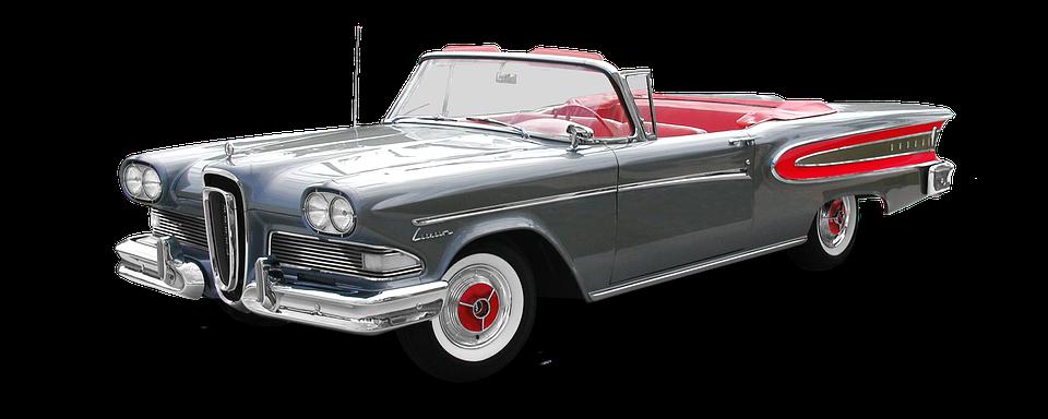 Ford, Edsel, 1958, Cabriolet, Photomontage, Auto, Retro