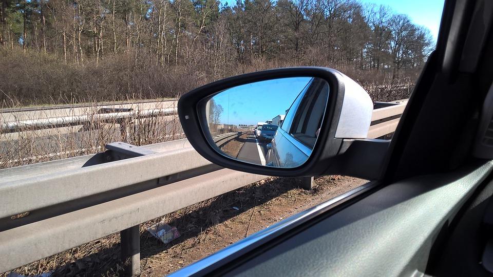 Jam, Mirror, Auto, Auto Snake, Traffic, Road, Column