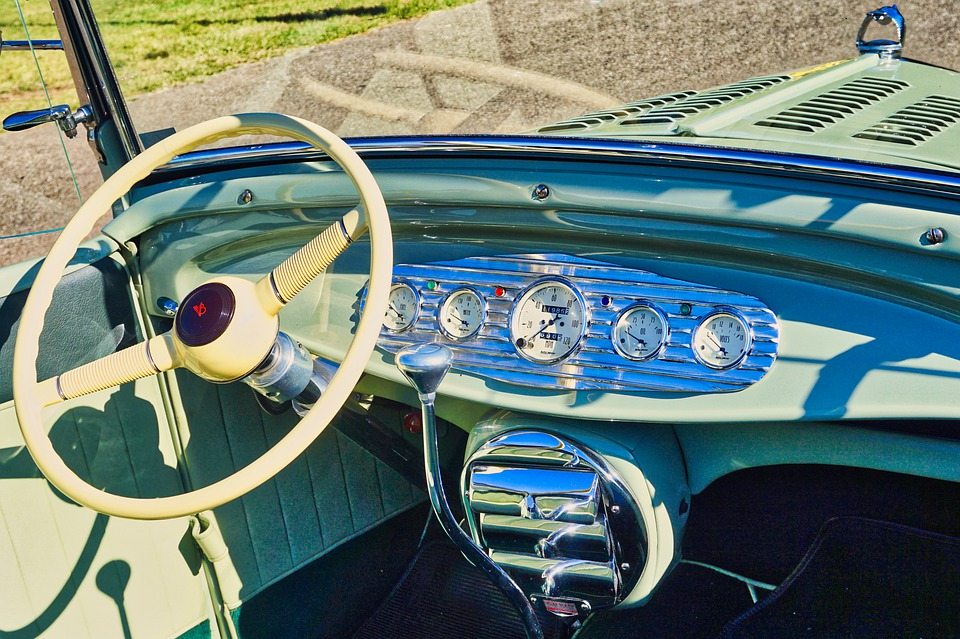 Auto, Oldtimer, Steering Wheel, Automotive, Retro